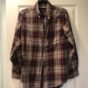 Faded Glory Men's Small Flannel Shirt Red/ Brown